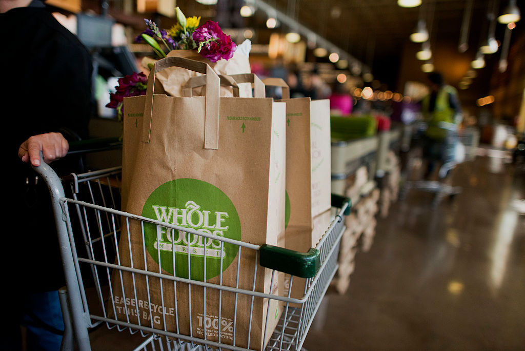 Whole Foods Shopping Cart with Bags image