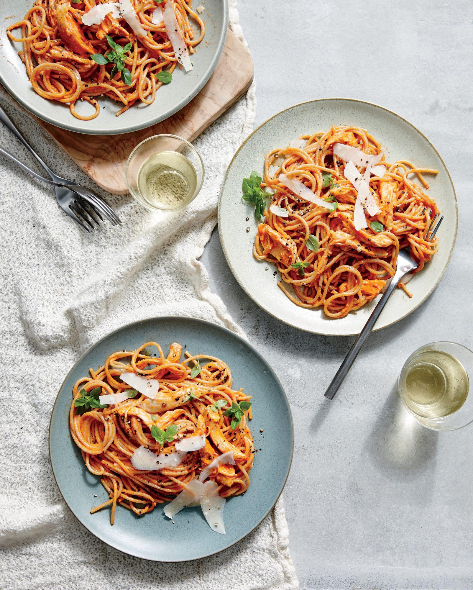 Family-Style Chicken Spaghetti