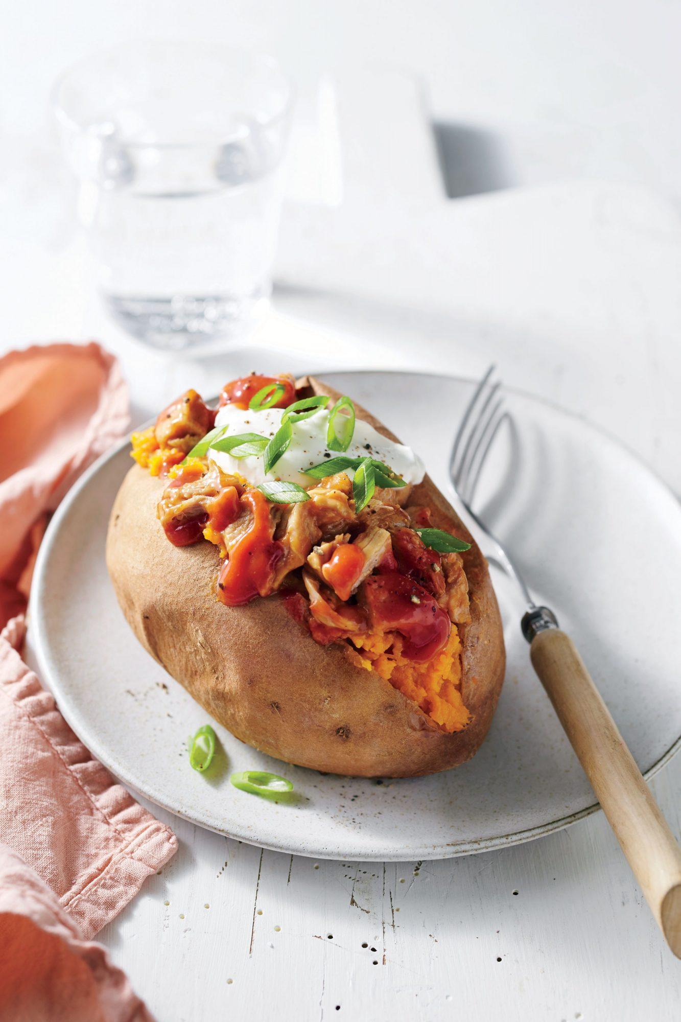 BBQ-Stuffed Baked Sweet Potatoes