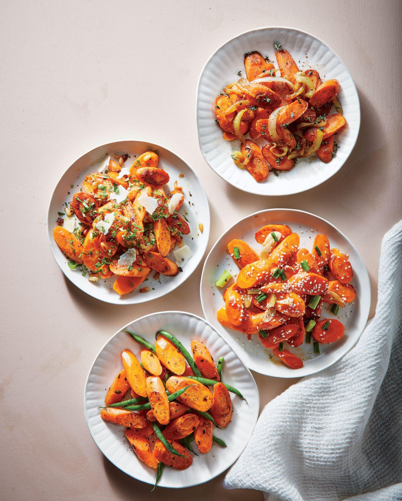 Parmesan Carrots with Lemon-Parsley Dressing