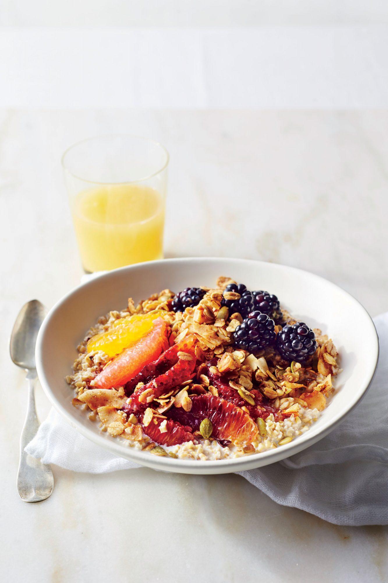 Blackberry-Citrus Granola Bowl