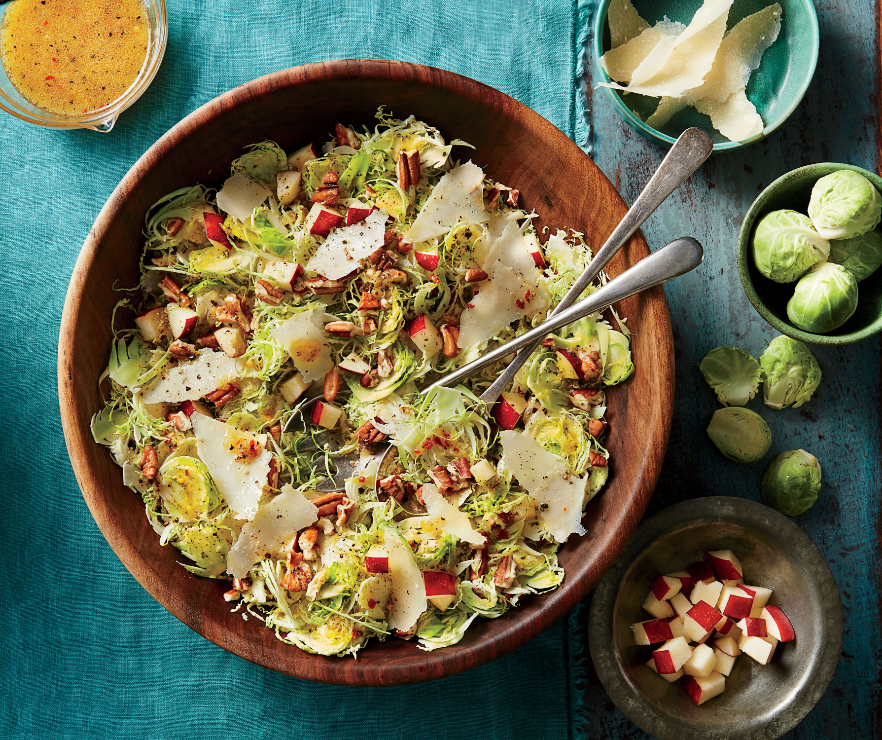 Brussels Sprout Slaw with Apples and Pecans image
