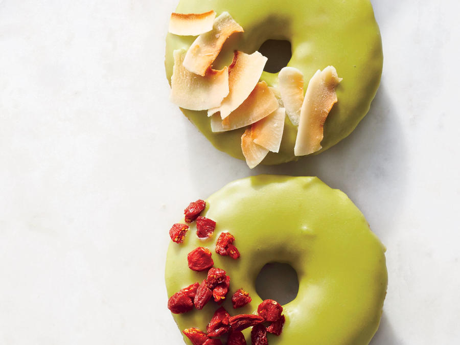 Matcha-Glazed Donuts