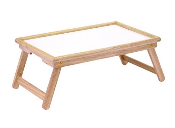 Folding White Breakfast Tray