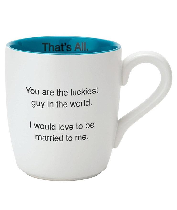 'Luckiest Guy – That's All' Mug
