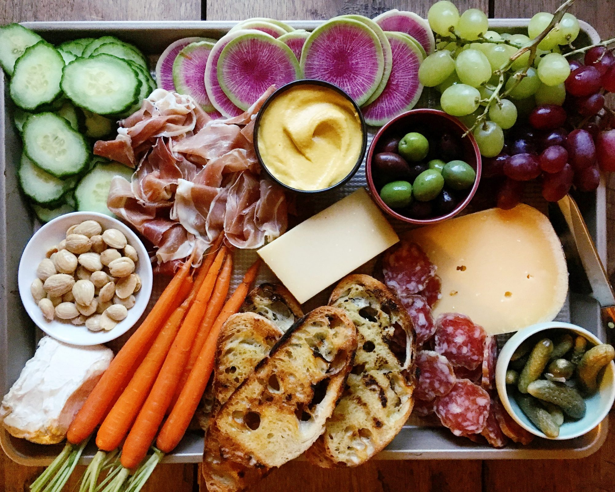 snack dinner board