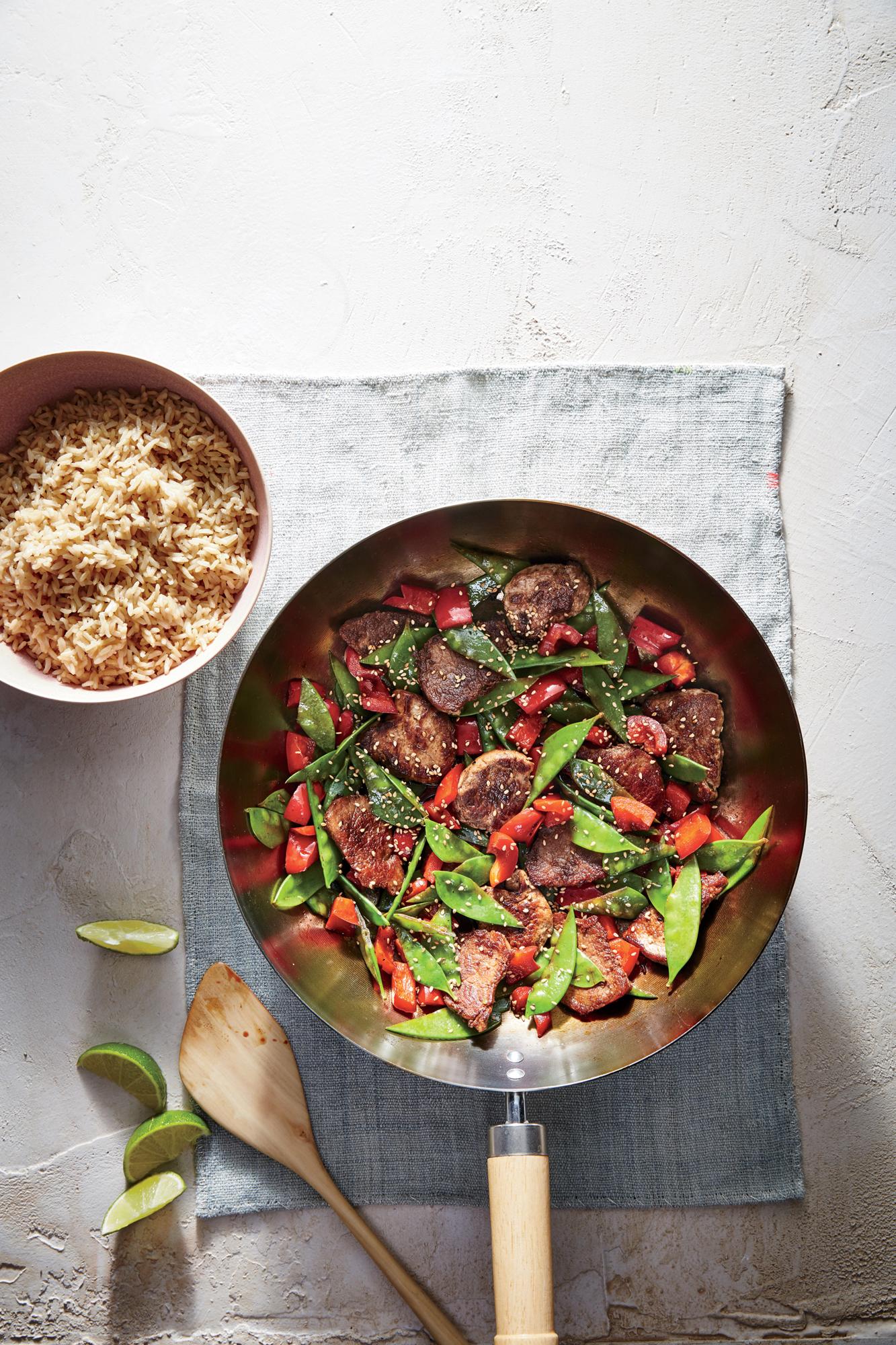 Pork Stir-Fry with Snow Peas