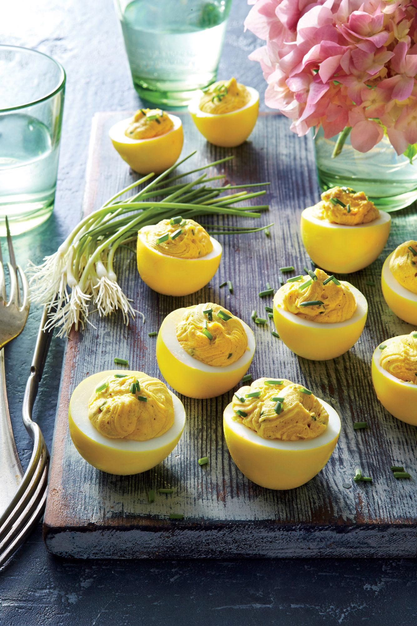 Turmeric-Pickled Deviled Eggs