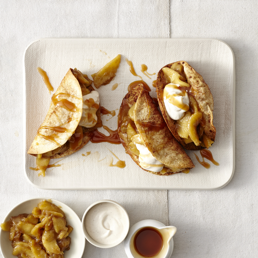 Dessert Tacos with Caramel-Apple Filling image