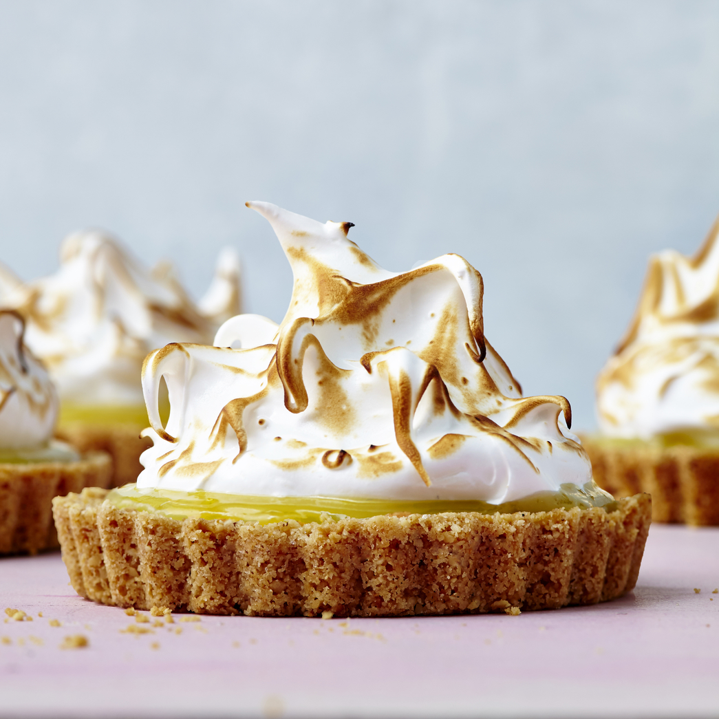 Mini Lemon Tarts with Matzo-Almond Crust