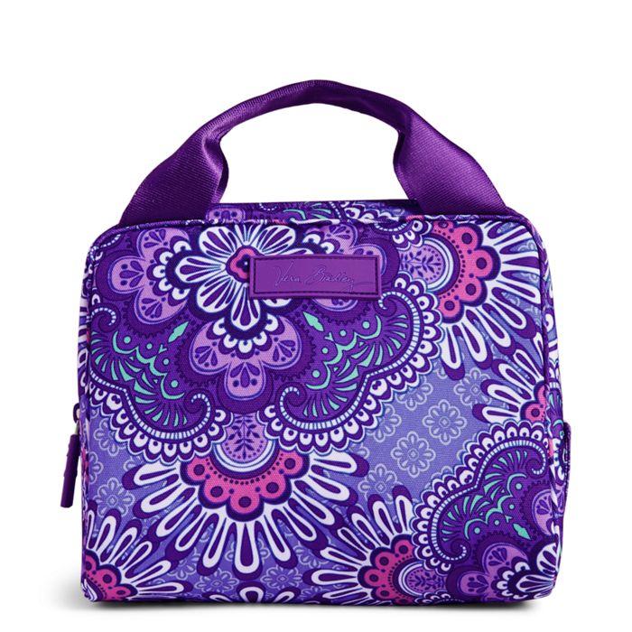 Purple Lunch Cooler Bag Vera Bradley Image