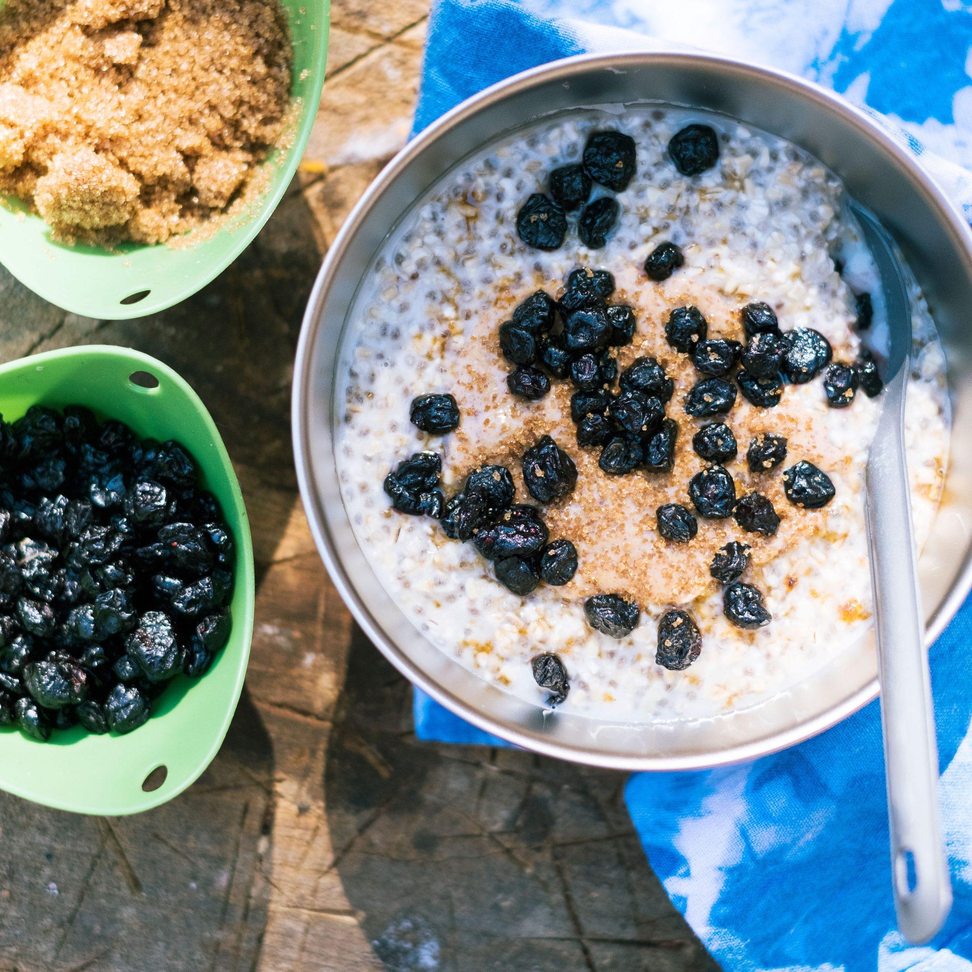Overnight Oats with Blueberries and Almond Butter