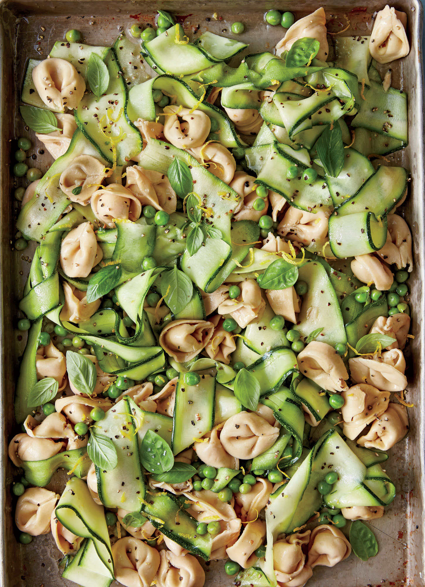 Tortellini Salad with Zucchini and Peas