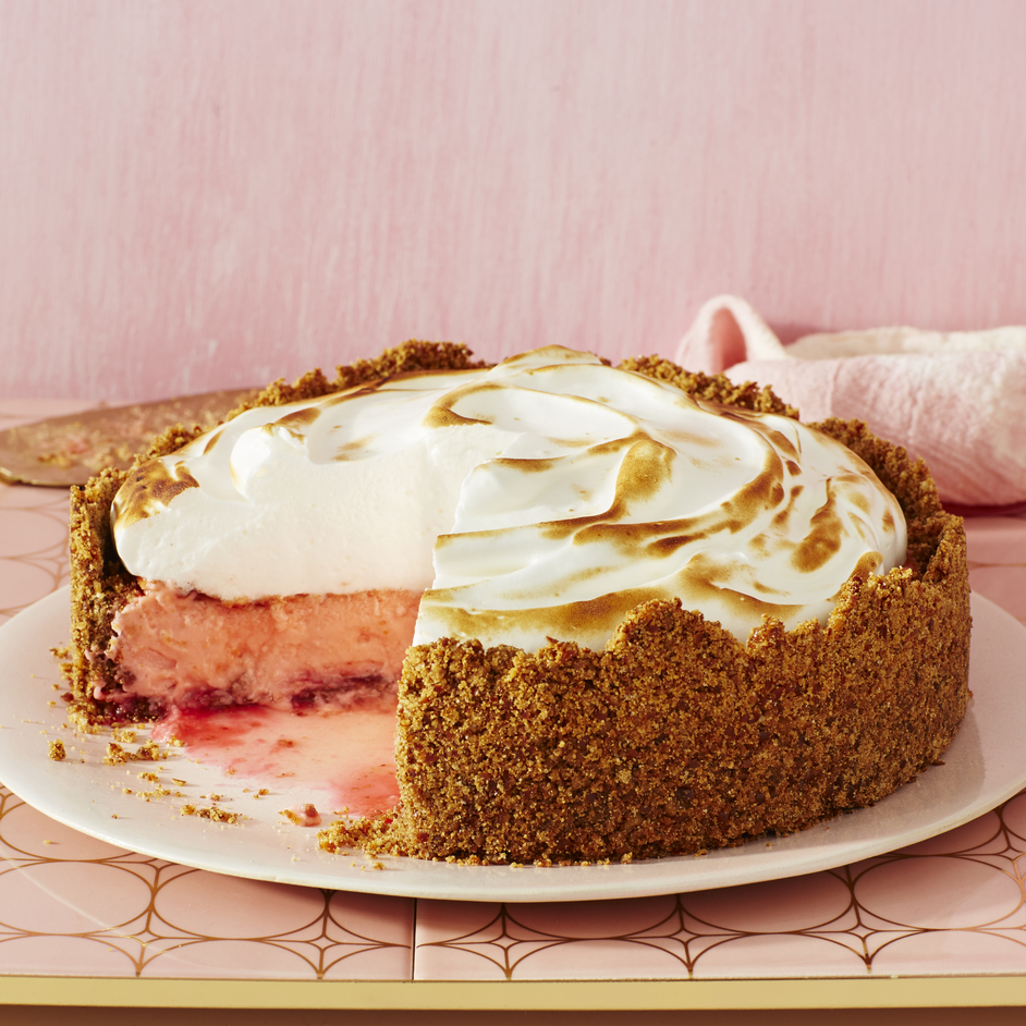 Pink Lemonade Meringue Cheesecake