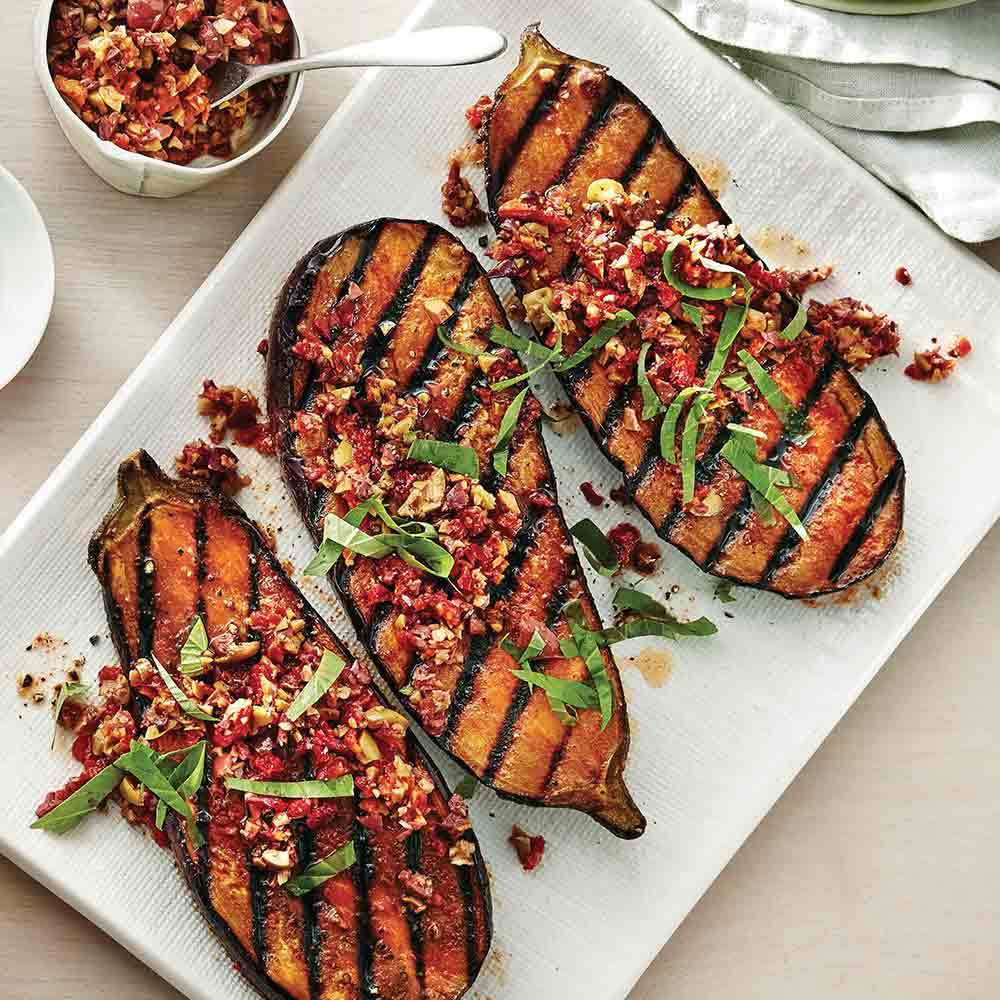 Eggplant Steaks with Tapenade