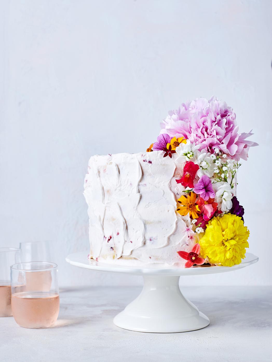 Confetti Flower Cake image