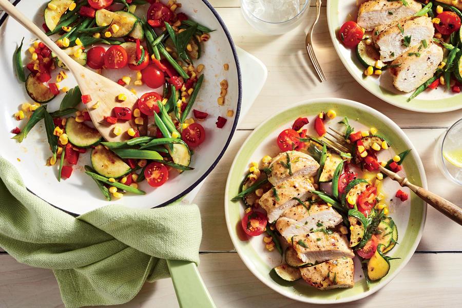 Chicken and Charred Succotash Salad