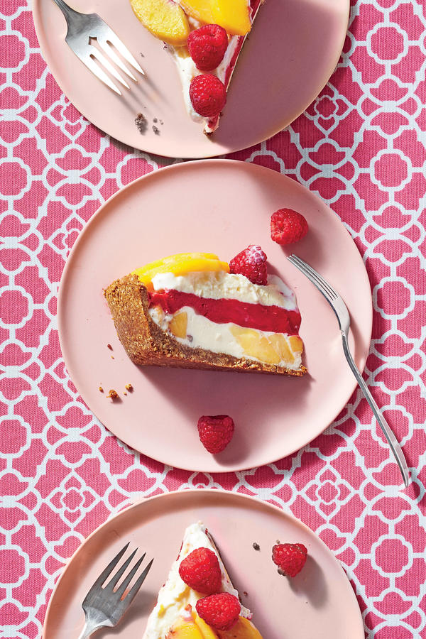 Peach Melba Ice-Cream Pie