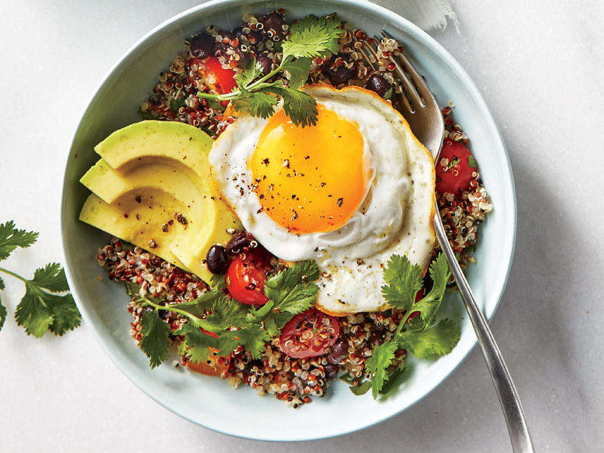 ck-Quinoa Bowls with Avocado and Egg