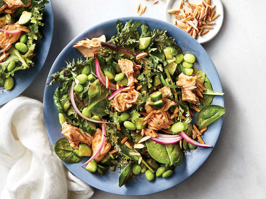 ck-Salmon Salad with Cherry Vinaigrette
