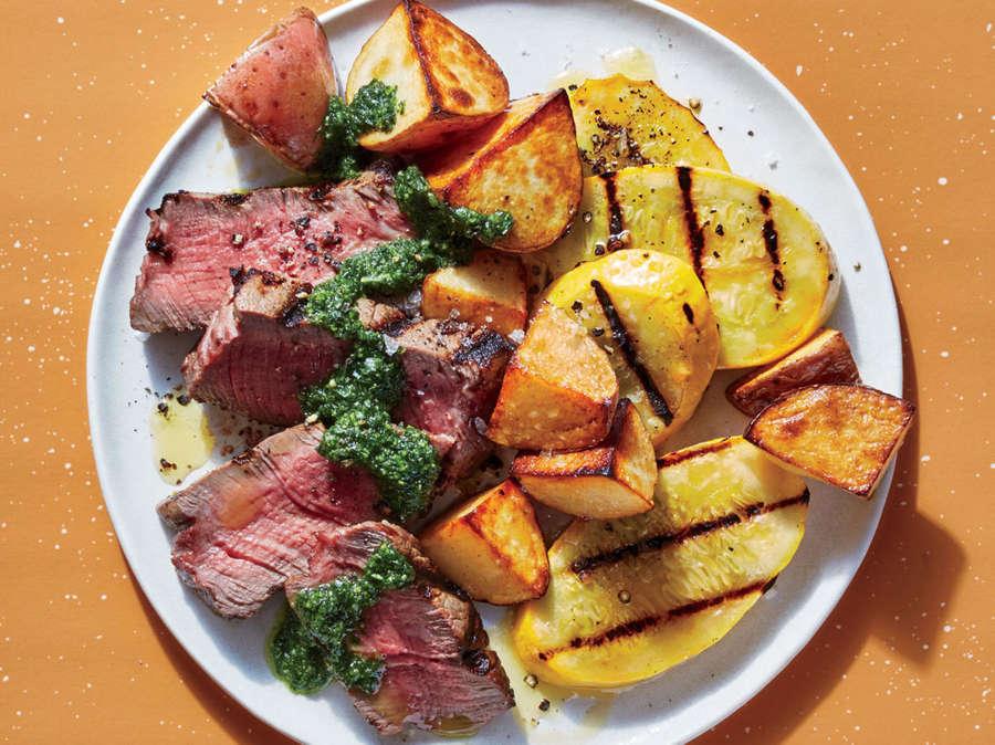 ck- Steak and Veggies with Zesty Chimichurri