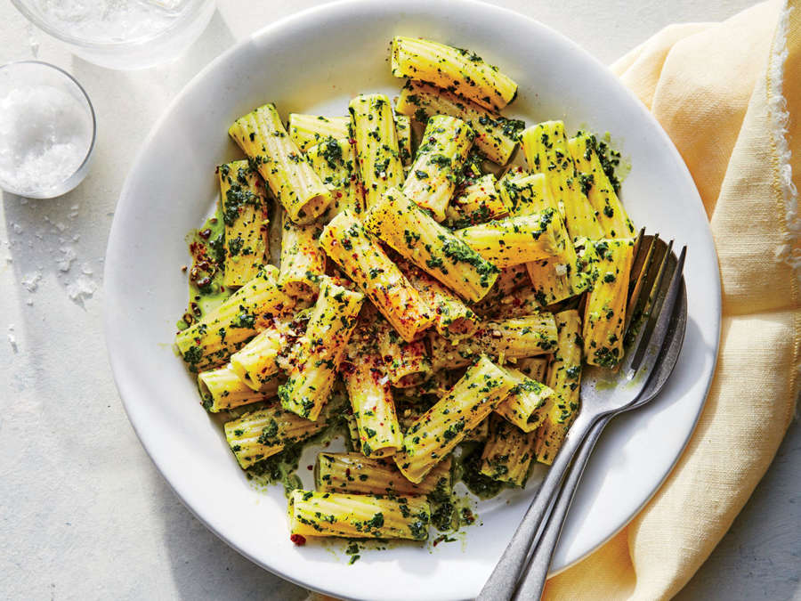 ck- Rigatoni with Kale Pesto