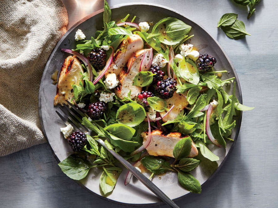 ck-Basil, Blackberry, and Grilled Chicken Salad
