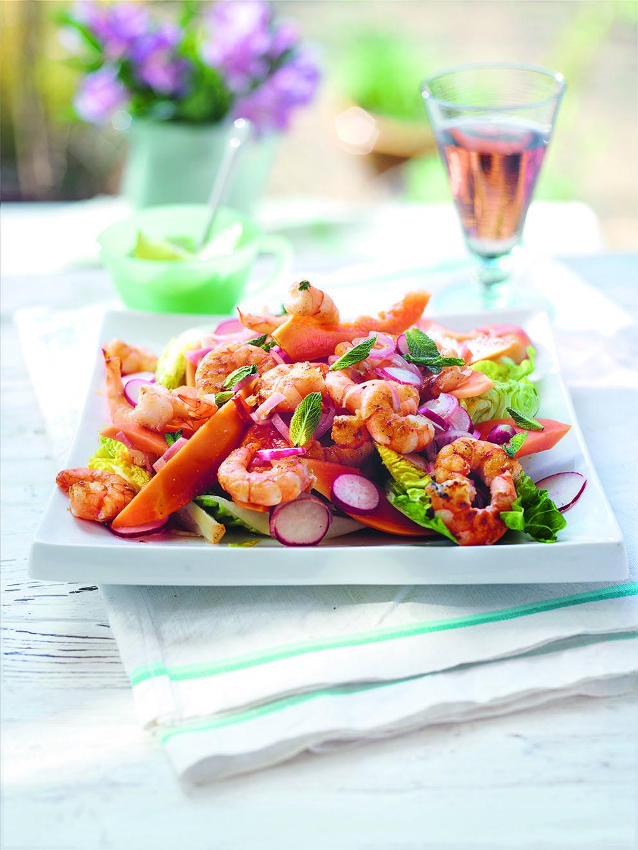 Shrimp & Papaya Salad
