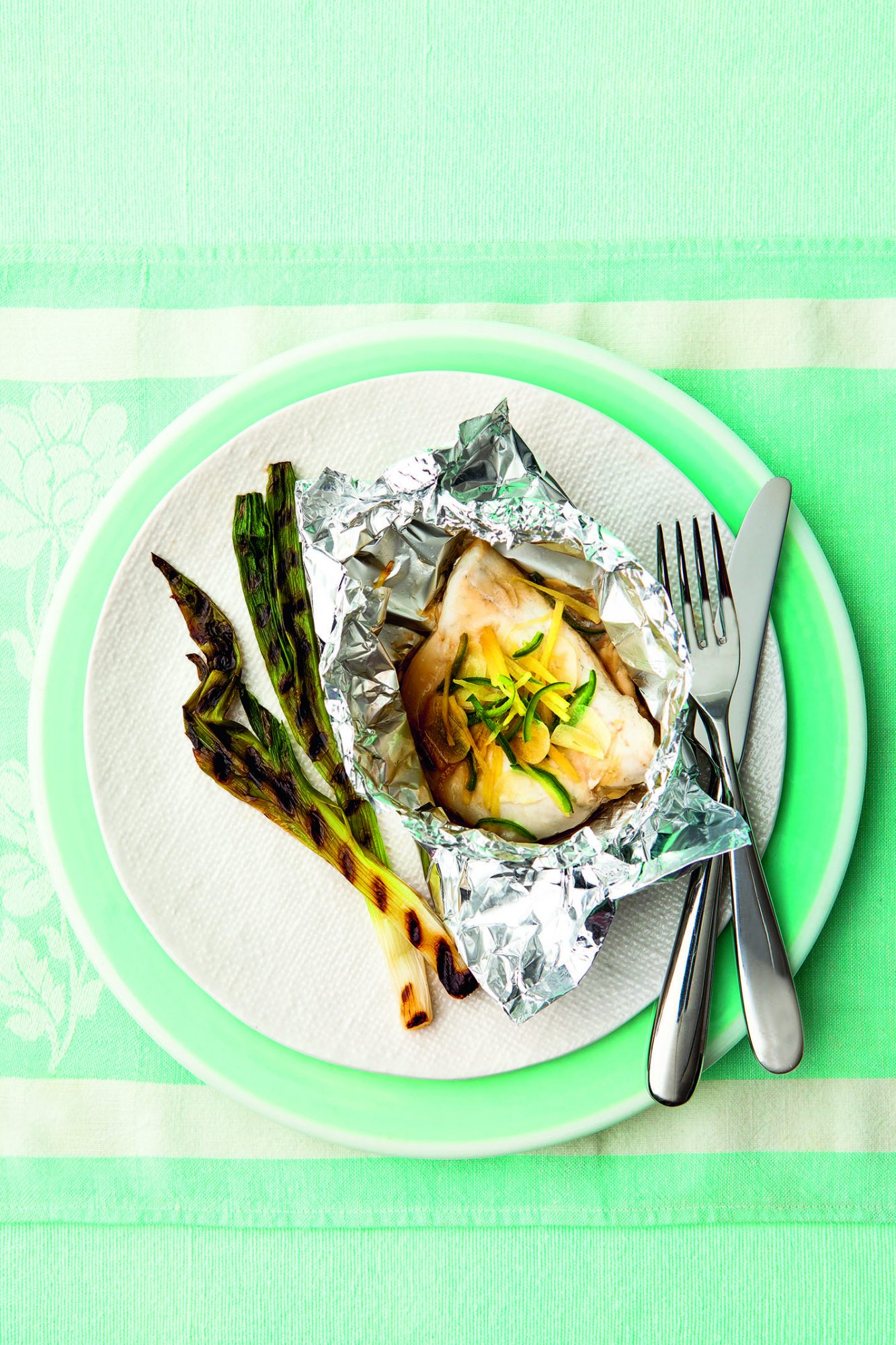 Soy and Ginger Steamed Sea Bass