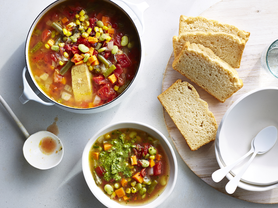 Vegetable Soup with Beer Bread