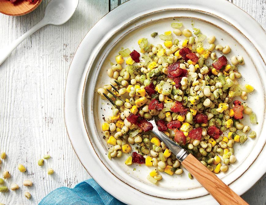 Field Pea, Corn, and Bacon Salad