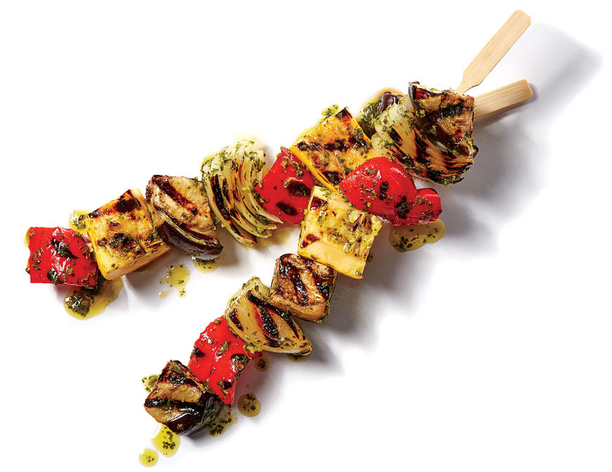 sl- Grilled Ratatouille Skewers