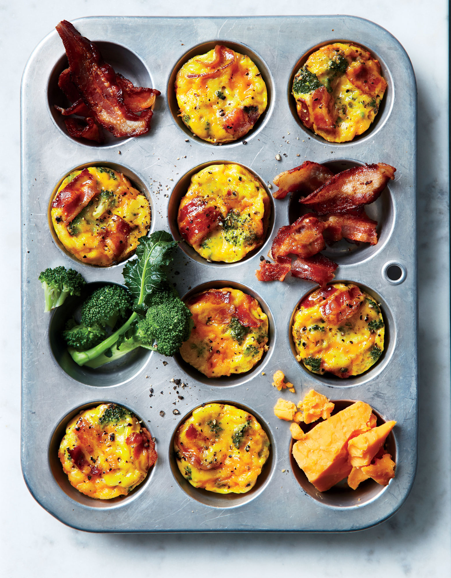 Broccoli-and-Bacon Muffin-Tin Frittatas