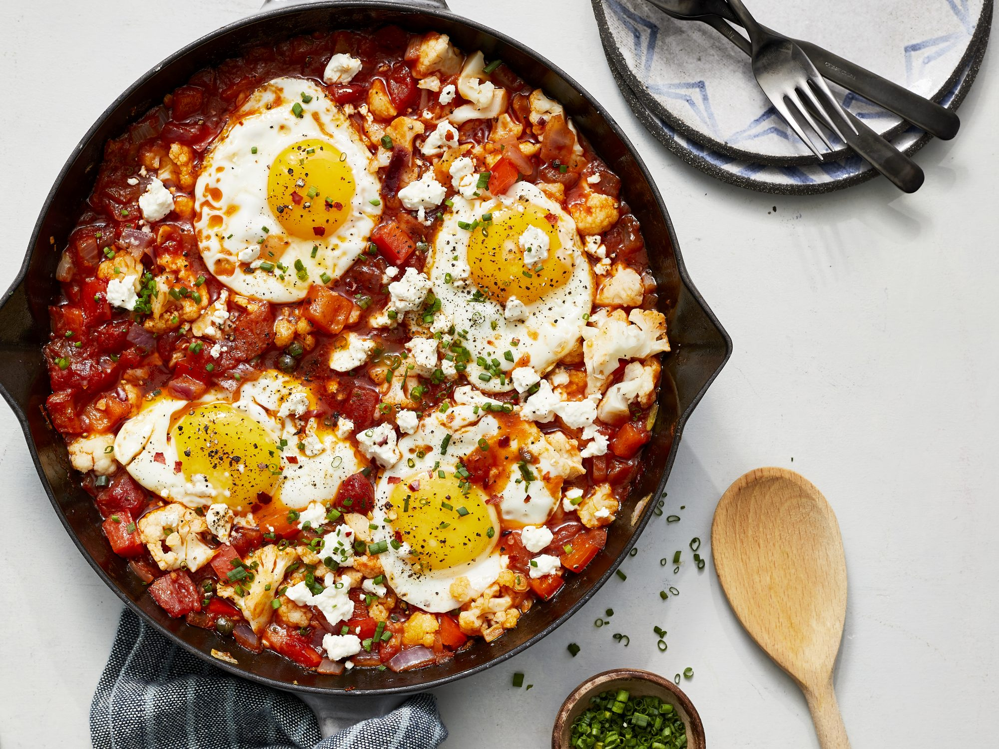 Cauliflower and Eggs in Purgatory image