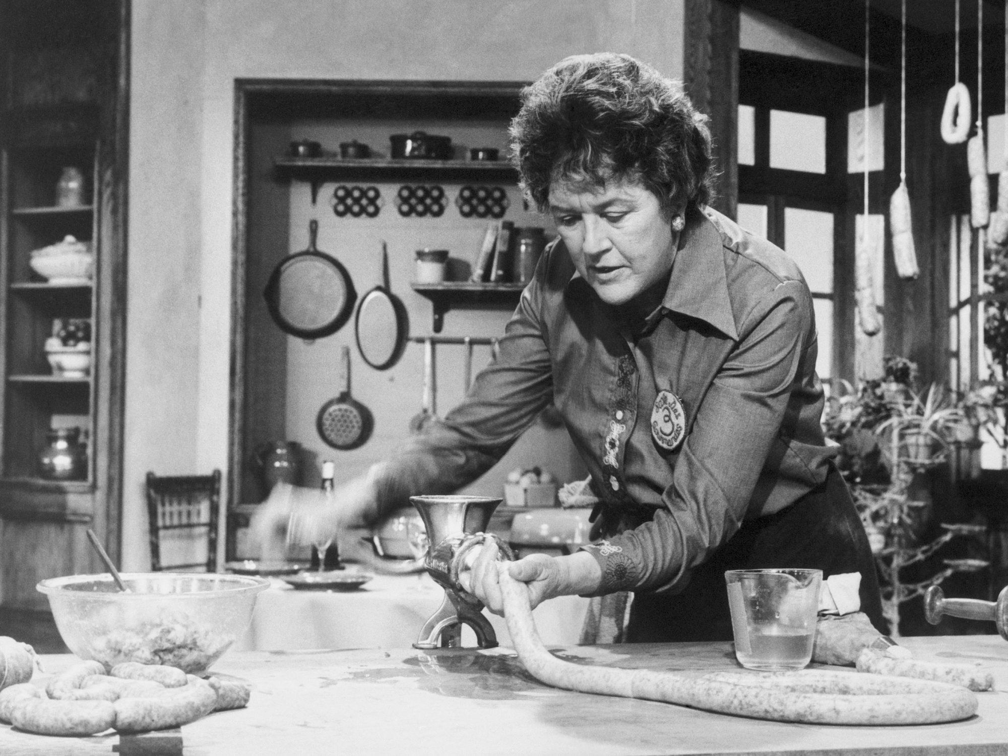 Julia Child Stuffing Sausages