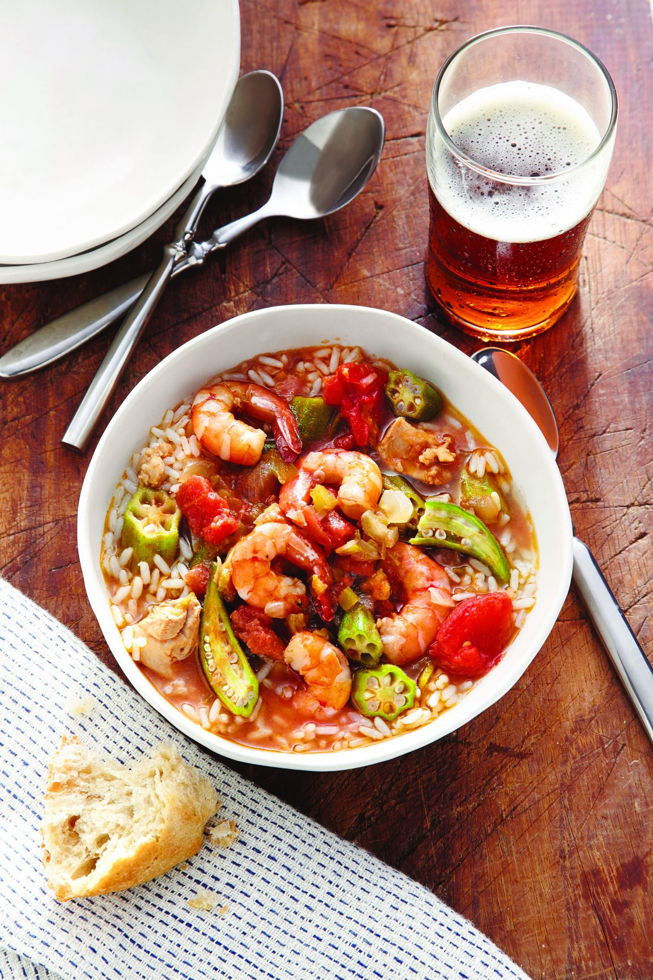 Chicken, Shrimp, and Vegetable Gumbo