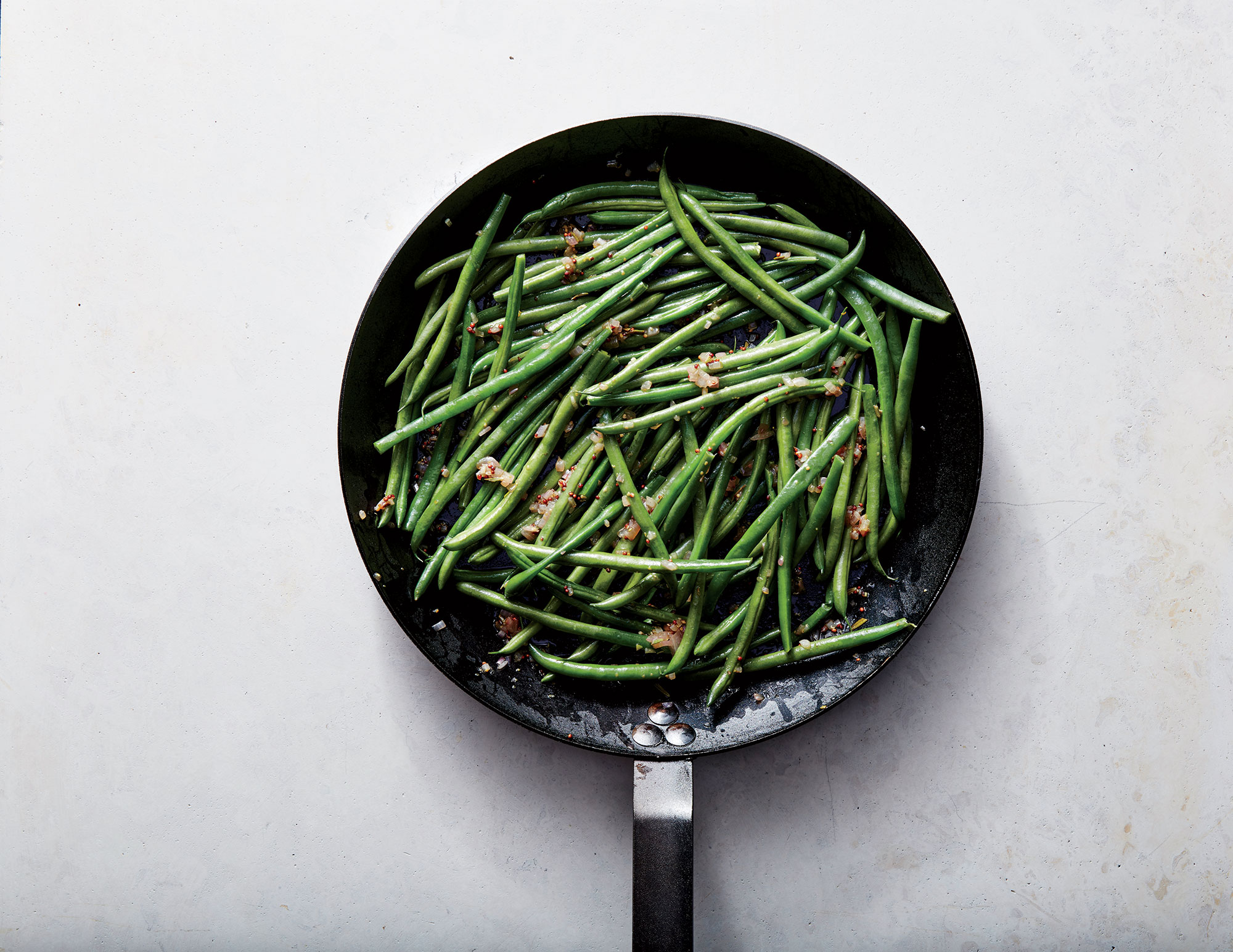ck- Haricots Verts with Warm Shallot Vinaigrette