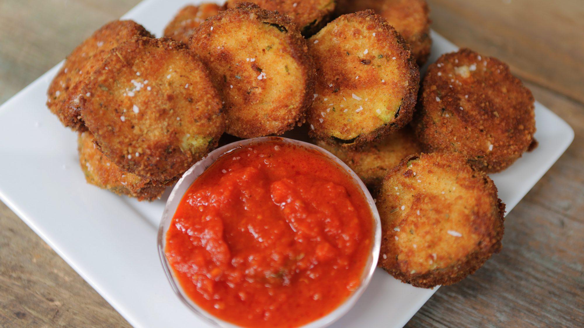 Fried Mozzarella-Stuffed Zucchini image