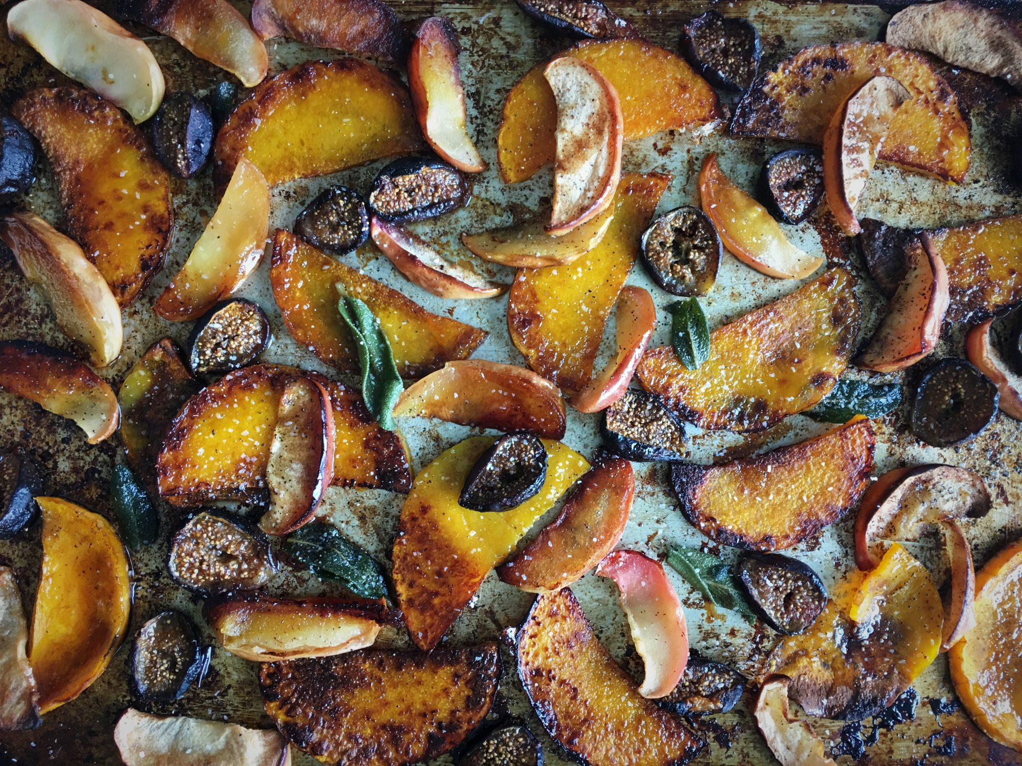 Roasted Butternut Squash, Apples, and Figs with Sage Brown Butter