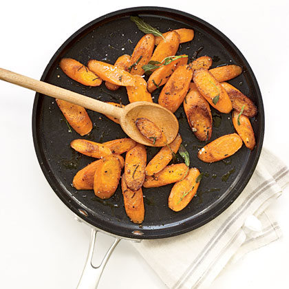 Sautéed Carrots with Sage