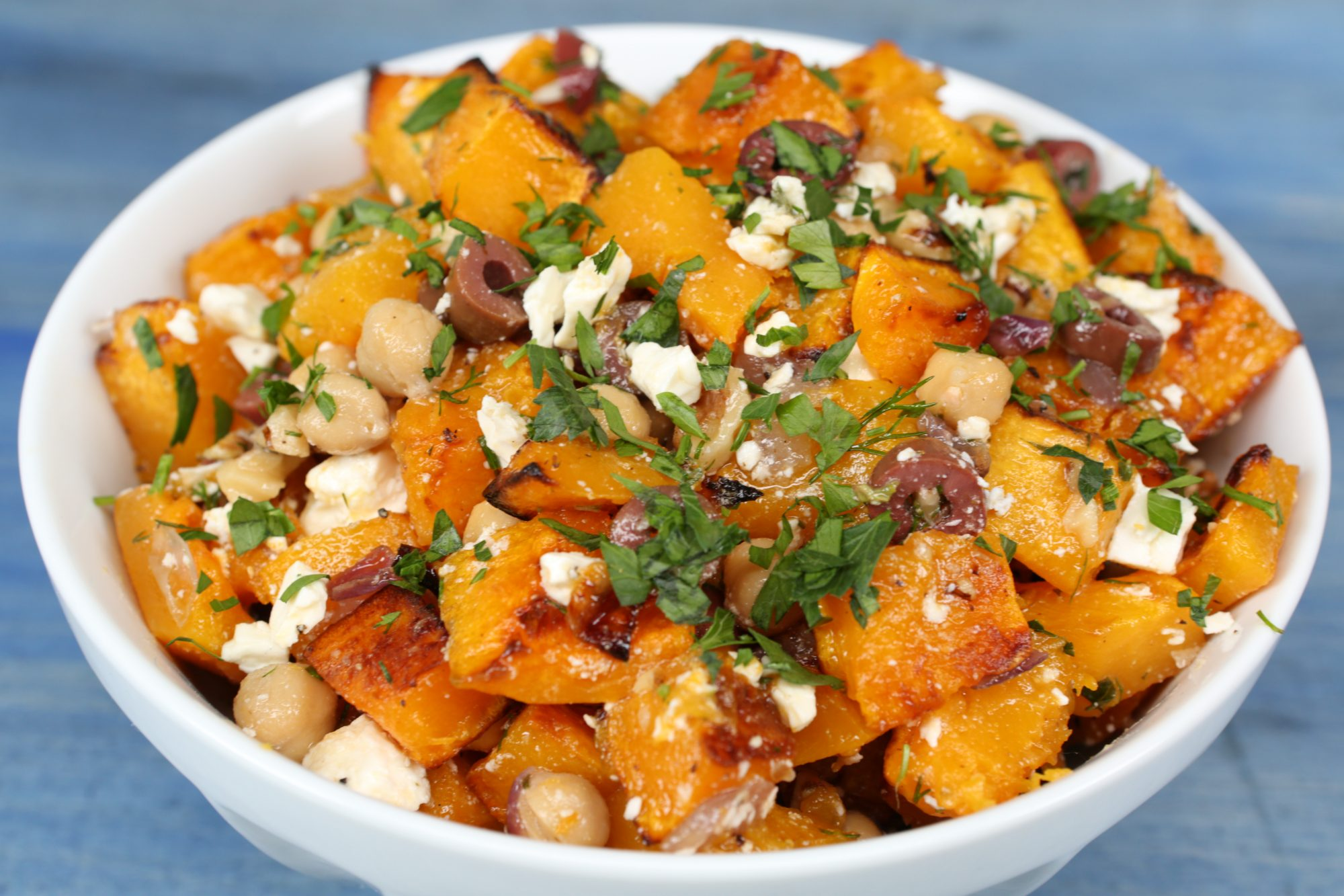 Greek Butternut Squash Salad