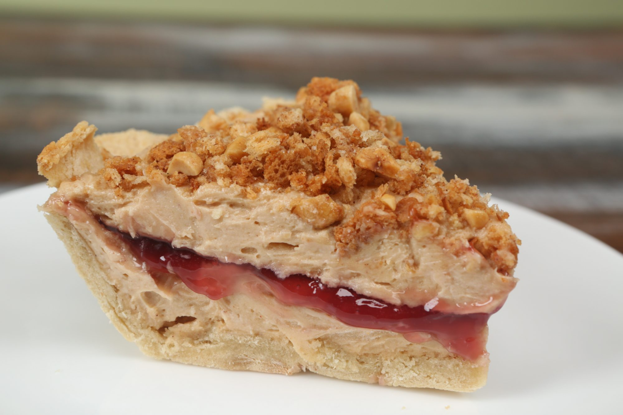 Peanut Butter and Jelly Sandwich Pie