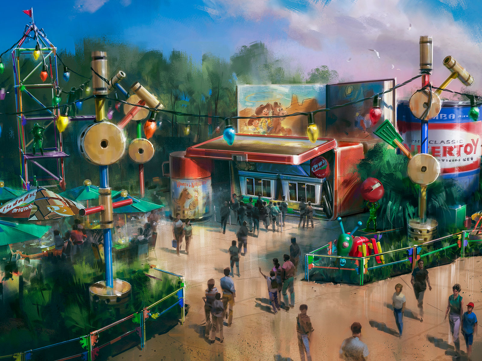 toy story restaurant rendering woody's lunch box