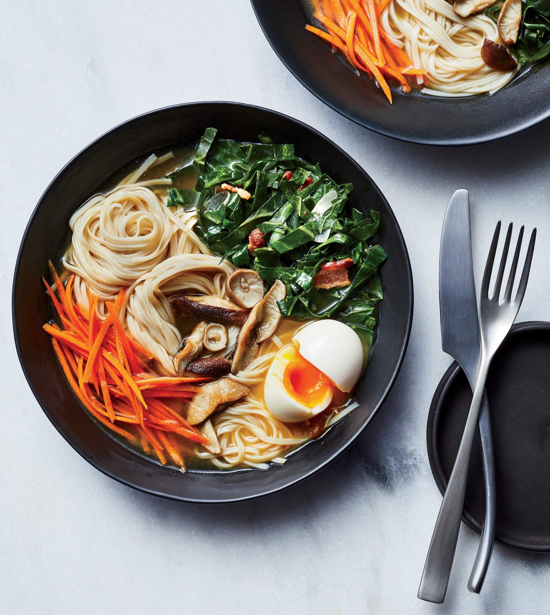 Miso-Ginger Noodle Bowls