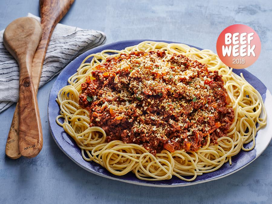 Beef-Week-Hed-Meatloaf-Spaghetti
