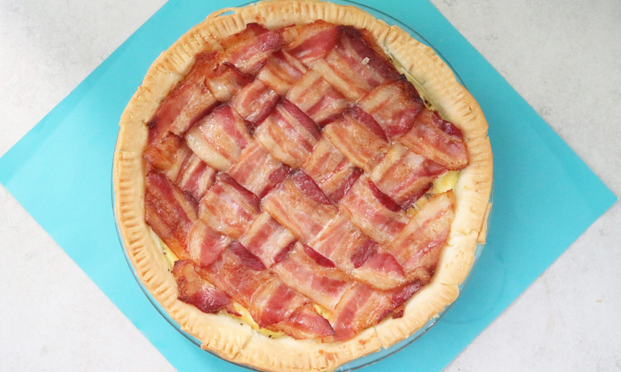 A Bacon Lattice Pie for Bacon Lovers with No Chill