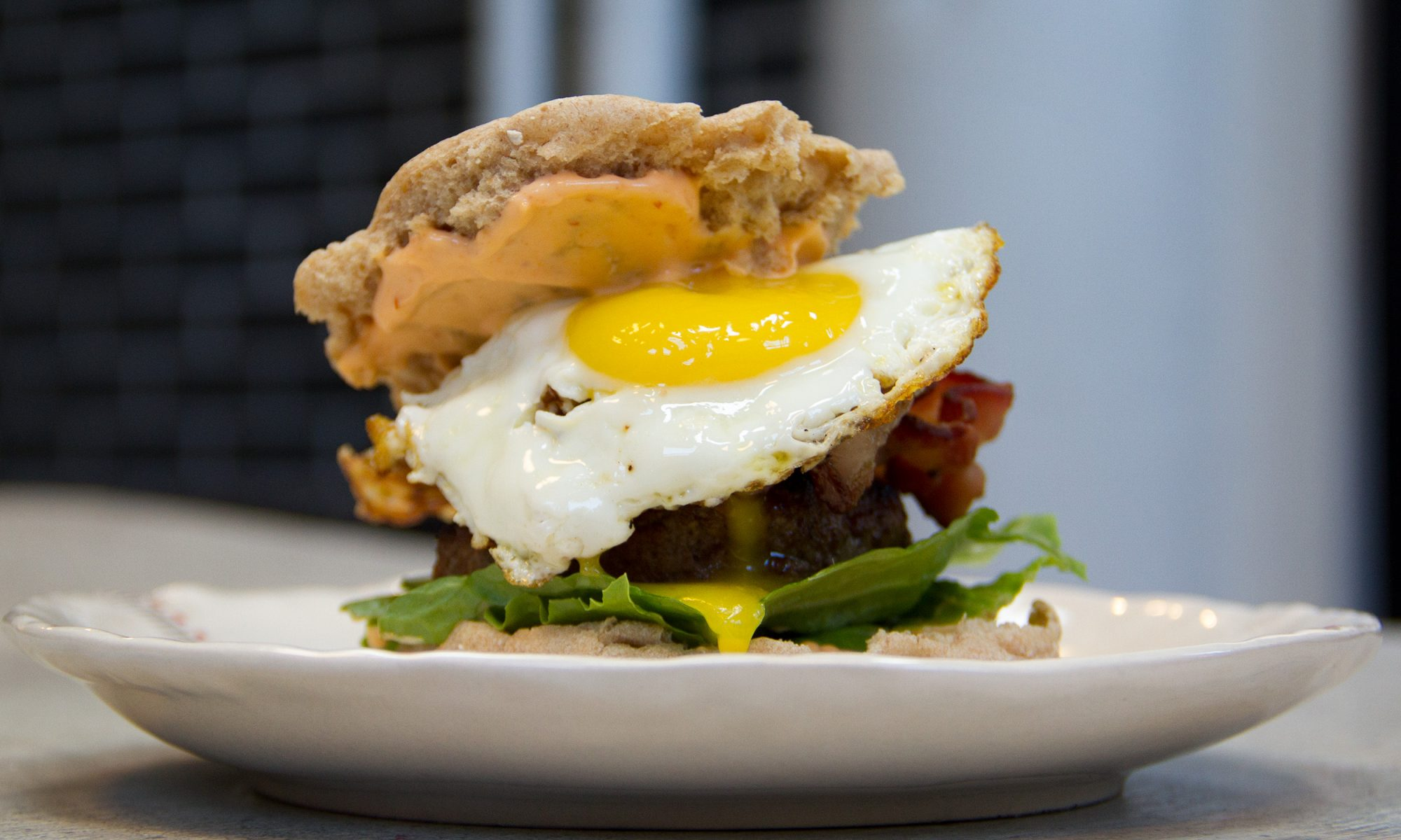 EC: This Breakfast Burger Has #YolkPorn for Days
