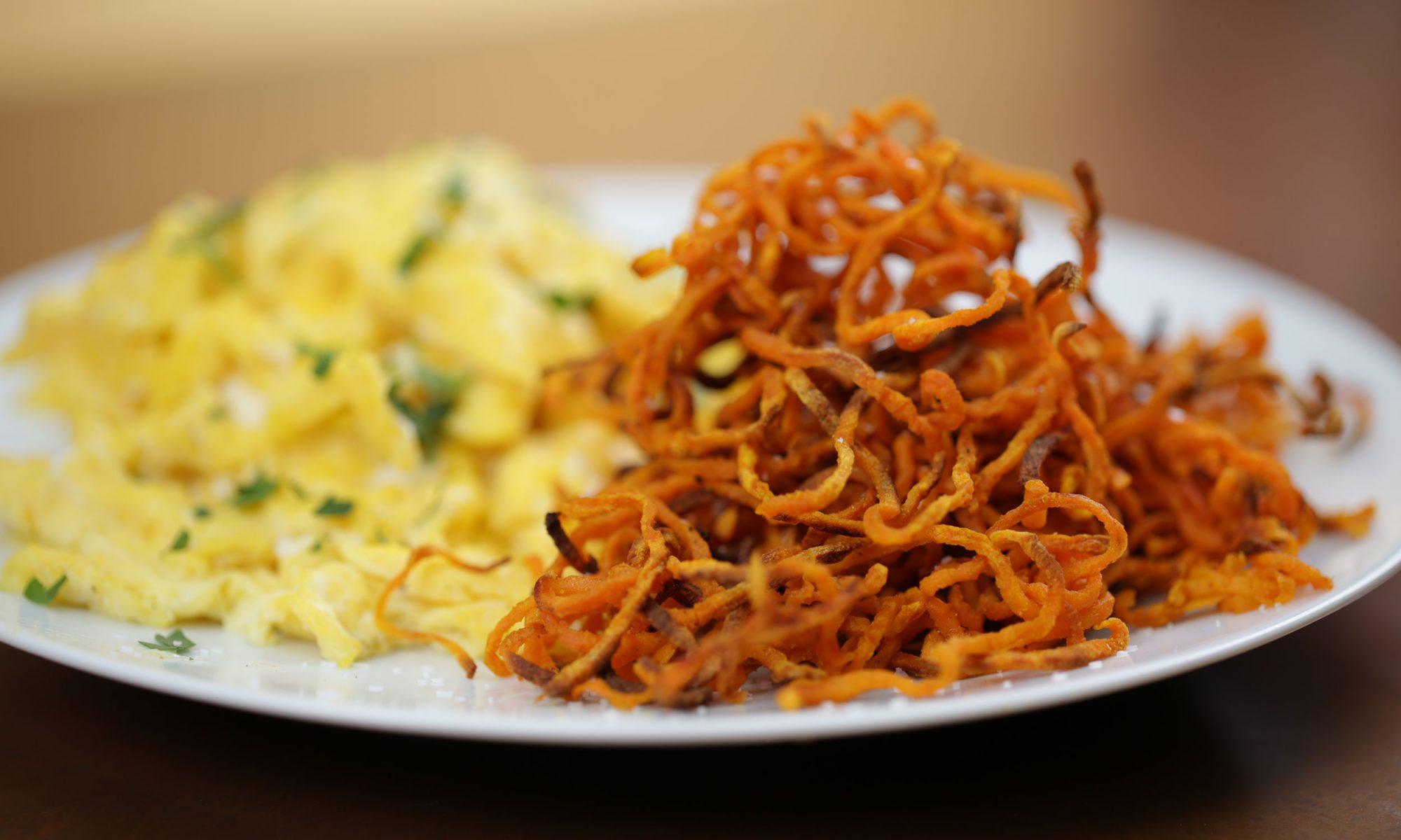 breakfast sweet potato straws video hero