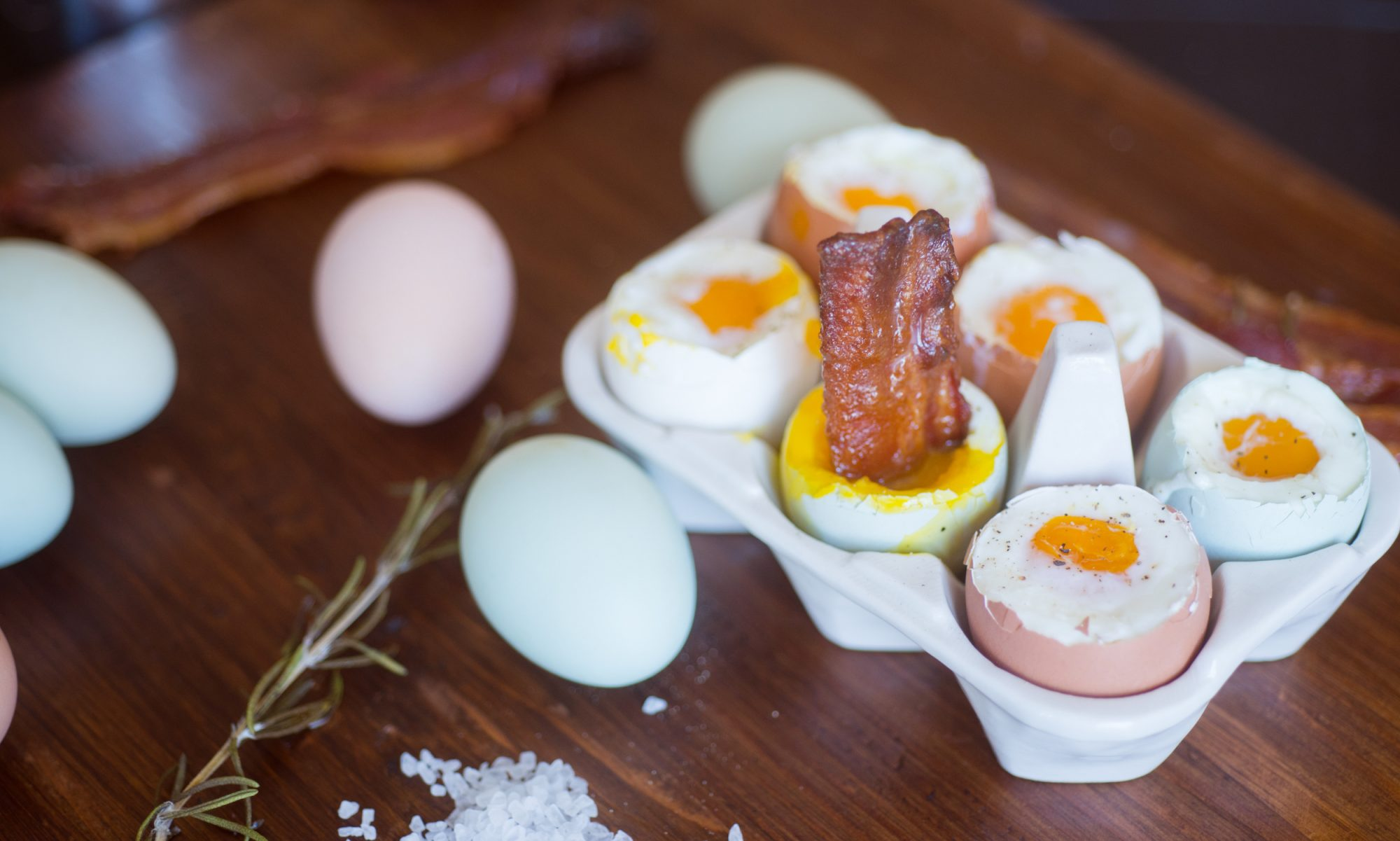 Candied Bacon with Soft-Boiled Eggs Is a New Way to Make Your Favorite Breakfast