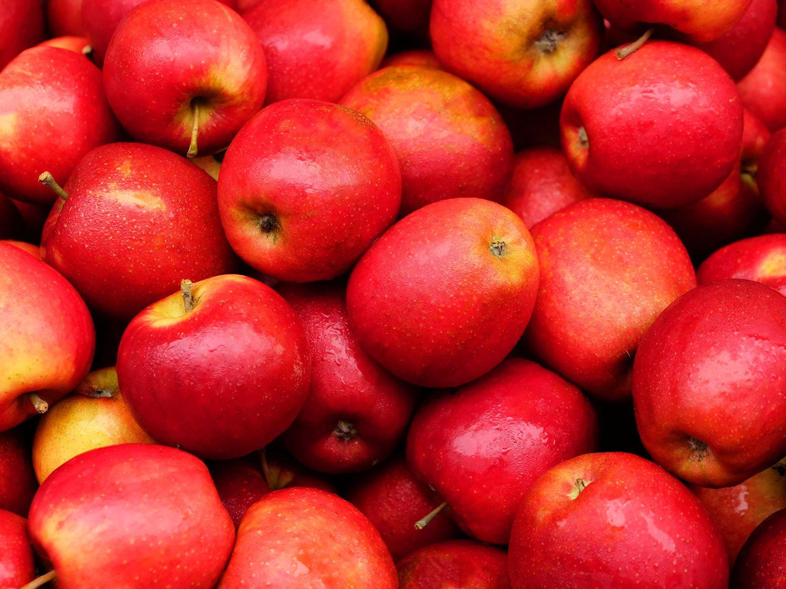 Full Frame Shot Of Red Apples
